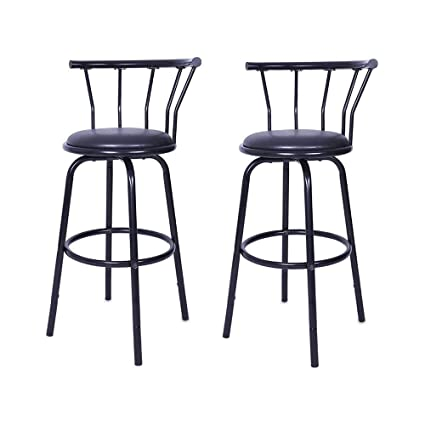 Miraculous Amazon Com Vmree Modern Outdoor Swivel Bar Stools Set Of 2 Pabps2019 Chair Design Images Pabps2019Com