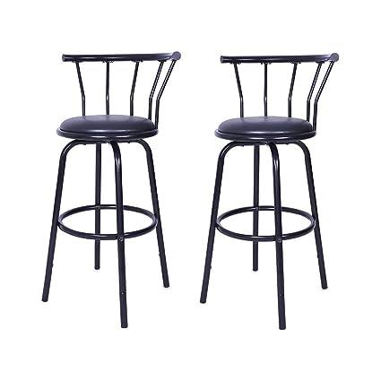 Fine Amazon Com Vmree Modern Outdoor Swivel Bar Stools Set Of 2 Andrewgaddart Wooden Chair Designs For Living Room Andrewgaddartcom