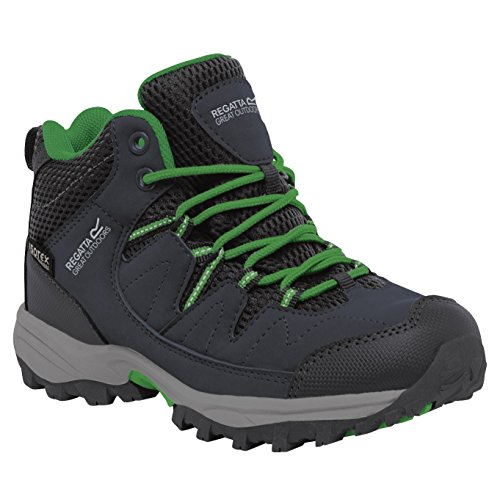 Regatta Boys Holcombe Mid Junior Fabric Lace Up Durable Walking Boots