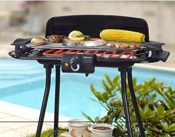 BBQ Elektro Grill Mit Ständer 2000 Watt, Barbecue Elektrogrill, Tischgrill  Für Küche,