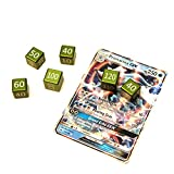 CNC Machined Aluminum Pokemon TCG Damage Counter Dice (6 pcs) Grass Green Color For Pokemon TCG, Burning Shadows, Guardians Rising, Sun and Moon