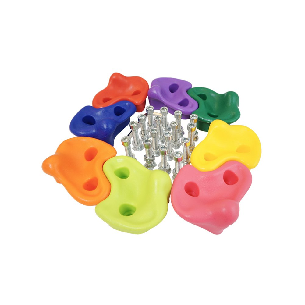 HAPPY PIE PLAY/&ADVENTURE HappyPie Kids Wall Rock Climbing Holds with Hardware Screw for Children Outdoor Playground