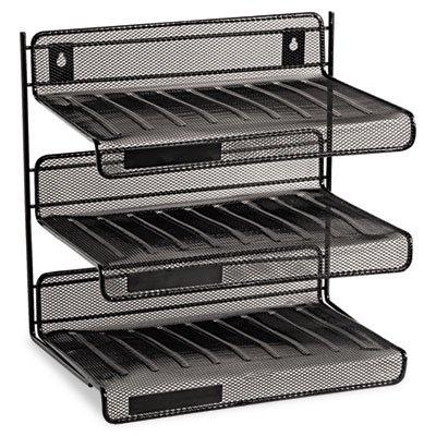 Rolodex Expressions Mesh 3 Tier Desk Shelf - 12.5