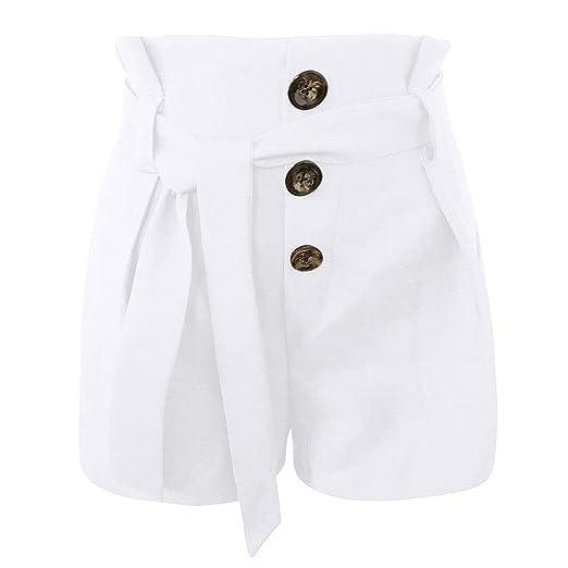 WANGYAN1886-shorts Pantalones de chándal sólidos de Estilo ...