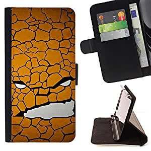 DEVIL CASE - FOR Samsung Galaxy S4 Mini i9190 - Texture Face - Style PU Leather Case Wallet Flip Stand Flap Closure Cover