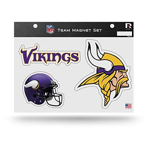 Rico Industries NFL Minnesota Vikings Die Cut Team Magnet Set Sheet