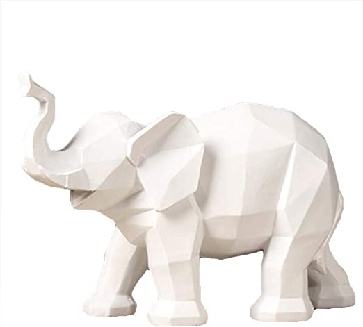 Amazon Com Gwfva Modern Simple Geometric Origami Black And White Elephant Animal Furnishings Decoration Nordic Creativity Board Room Home Decoration Accessories Color White Home Kitchen