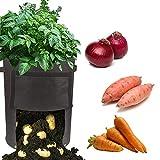Growsun 10 Gallon Fabric Potato Bags Grow Pots with Handle,2 Pack Per Set
