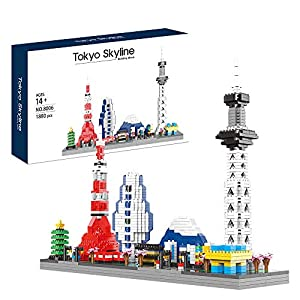 YaJie 2021 New Model Micro Block Architecture Tokyo Skyline Collection Building Set Model Kit and Gift for Kids and…