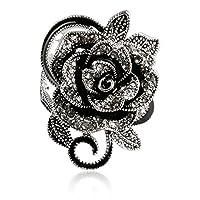 SMOO 2016 Newest Fashion Retro Crystal Jewelry Big Flower Shape Elegant Vintage Rings For Women