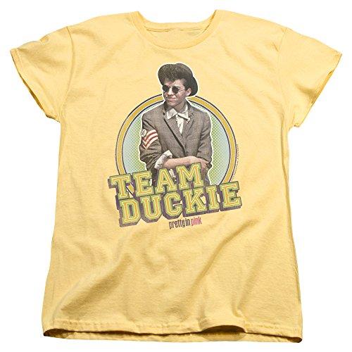 2Bhip Pretty In Pink 1986 Romantic Comedy Drama Movie Team Duckie Women's T-Shirt Tee ()