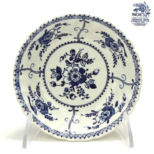 Indies, Blue by Johnson Brothers, Ironstone Fruit Bowl, Individual ()