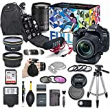 Canon EOS 80D DSLR Camera Video Creator Kit with Canon EF-S 18-135mm f/3.5-5.6 is USM Lens & PZ-E1 Power Zoom Adapter + Wide Angle & Telephoto Lens + Flash + SanDisk 32GB Memory + Accessory Bundle