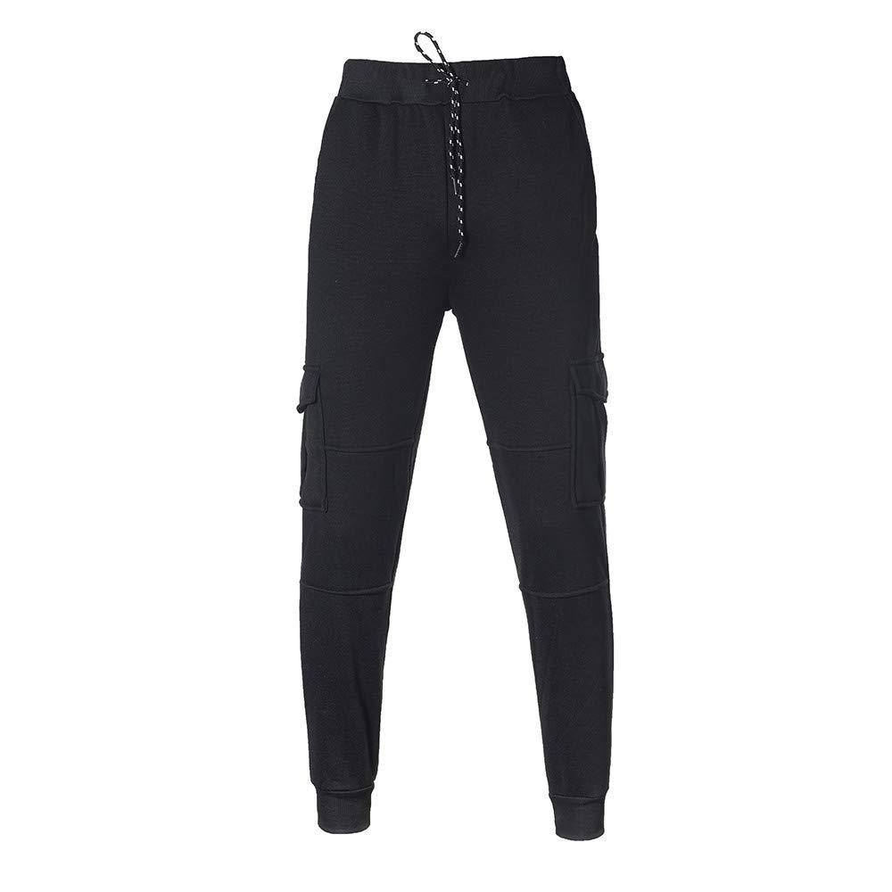Mens Casual Jogger Sweatpants Basic Fleece Jogger Pant Elastic Waist
