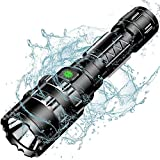 Tactical Flashlight, Wastou 1200 Lumen Super Bright Pocket-Sized 5 Modes Outdoor Handheld LED Flashlight with Rechargeable 18650 Battery for Camping, Hiking
