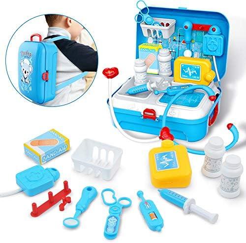 GizmoVine Doctor Kit für Kinder, Pretend Medical Set Kinder Toy Doctor Medical Playset Ausrüstung pädagogische Doctor Toys für Kleinkind Jungen Mädchen