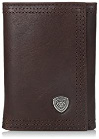 Ariat Men's Rowdy Trifold Copper Wallet
