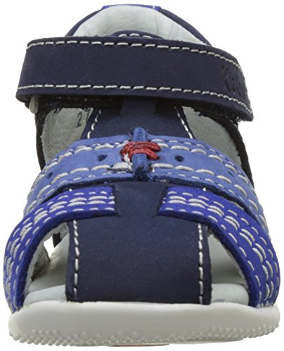 Kickers Bigbazar - Primeros Pasos de Otra Piel Bebé-Niñas Bleu (Marine Bleu Bleu)