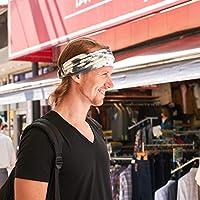 CHARM Womens Cotton Spa Headband - Tie Dye Headwrap for Face