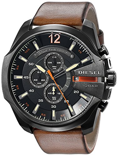 diesel-mens-dz4343-mega-chief-gunmetal-brown-leather-watch
