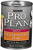Purina Pro Plan Adult Dog Food, Chicken and Vegetables Entrée, 13-Ounce Cans (Pack of 12), My Pet Supplies