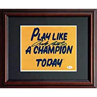 Rudy Ruettiger JSA Signed 8x10 Framed Notre Dame Play Like a Champion Today Football… photo