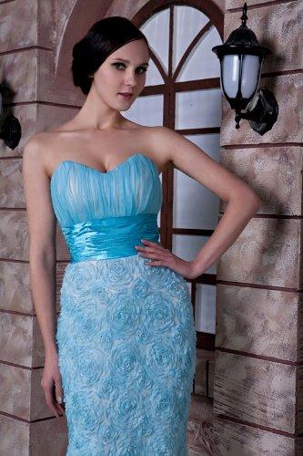 Meerjungfrau BRIDE Entwurfsart Neuer traegerlosen GEORGE und Blau Abendkleid Blau weise BOanX