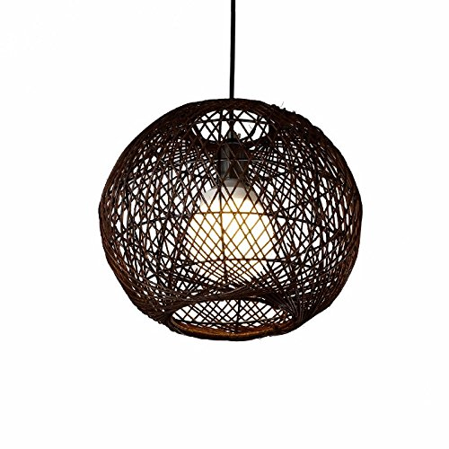 XHOPOS Home Pendant Lights Modern Simple Rattan Arts Creative Braided Restaurant bedrooms Clothing Retro Lighting No Light Source 30X25cm