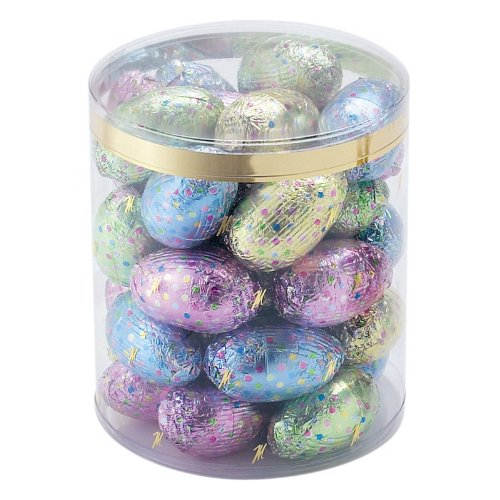 Italian Chocolate Easter Eggs - Madelaine Peanut Butter Filled Easter Chocolate Eggs in a Clear Tub