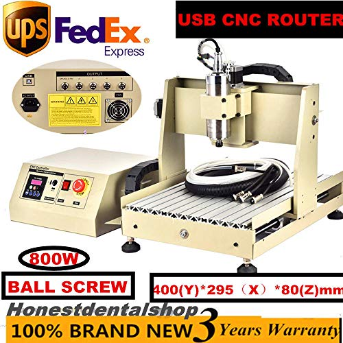 Engraving Machine, USB Port 4Axis 3040 800W VFD CNC Router Engraver Engraving Drilling Machine (US Stock)