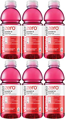 Vitamin Water Zero, Dragonfruit - Power C, 20oz Bottle (Pack of 6, Total of 120 Oz)