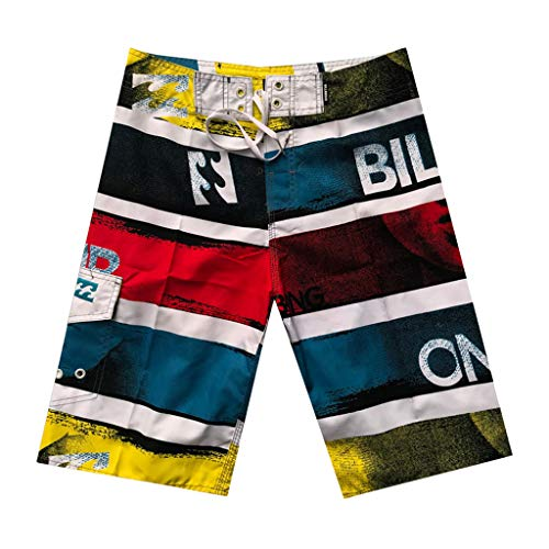 Leegor 2019 Men's Relaxed Fit Personalize Scrawl Hawaiian Boardshorts Swimming Surfing Pants Casual Drawstring Beach Trunks