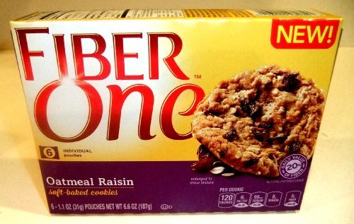 - Fiber One Soft Baked Cookies - Oatmeal Raisin - 6.6 Oz (Pack of 3)