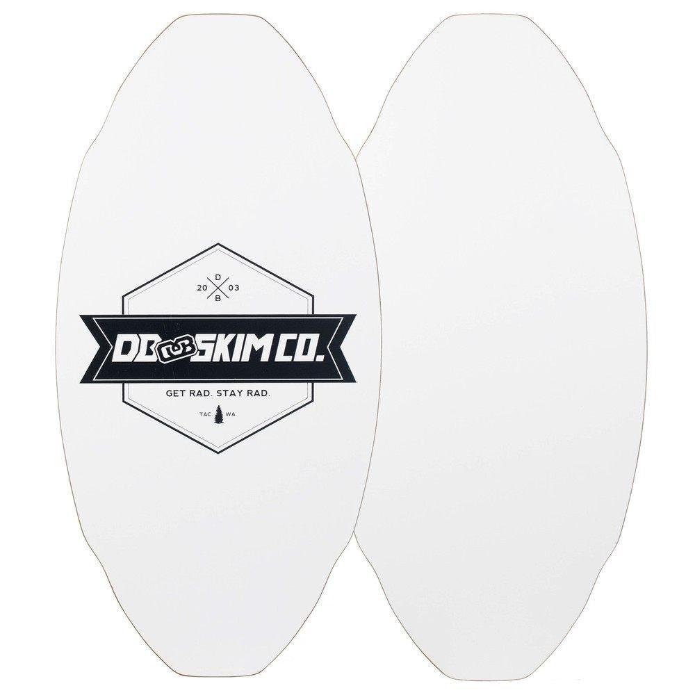 DB Skimboards Proto Plank Skimboard White Medium, Maple/Poplar Construction, 3D Rocker Pattern, Durable HPL Top & Bottom, Epoxy Screenprinted Graphic, Made in The USA