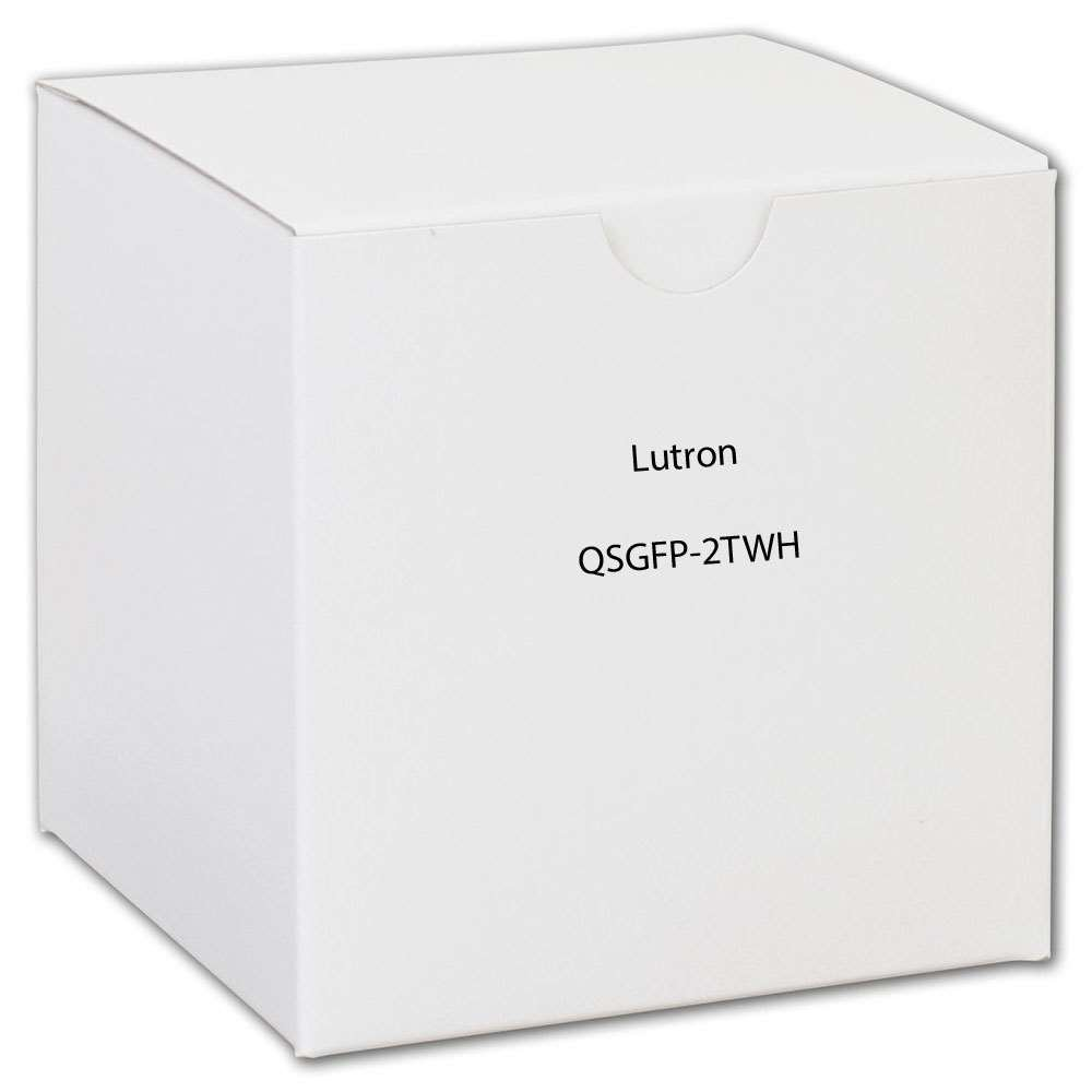 Lutron Qsgfp-2Twh White Grafik Eye Qs 2 Shade Zone Faceplate & Button Kit