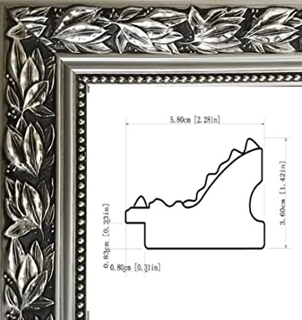 Amazon.com - Silver picture/poster frame size 16x22-inch, ornate ...