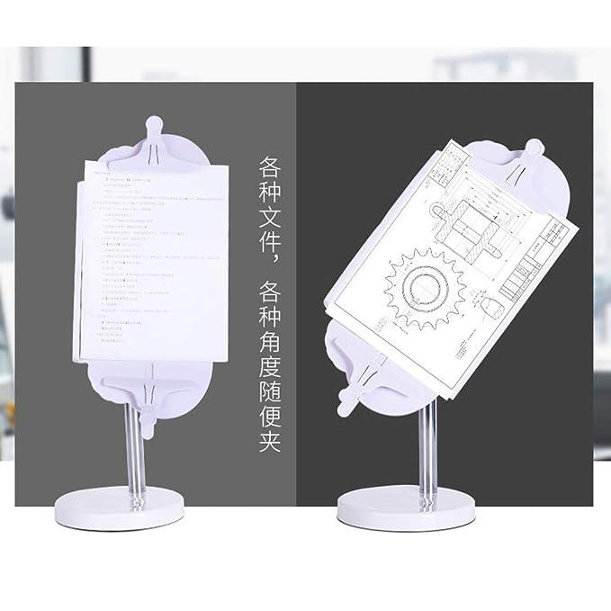 wei/ße Buchklammer 360 Grad drehbarer Buchst/änder Verstellbarer Winkel und L/änge Buchhalter mit Buchst/ütze Lesest/änder Lesewinkel