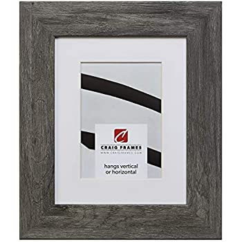 Craig Frames 74030 20 x 24 Inch Faux Gray Barnwood Picture Frame Matted to Display a 16 x 20 Inch Photo