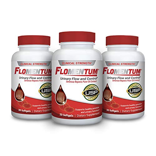 Flomentum® USP Verified Saw Palmetto Prostate Supplement for Men - Supports Healthy Urinary Function - Clinical Strength Extract- (30 Count)