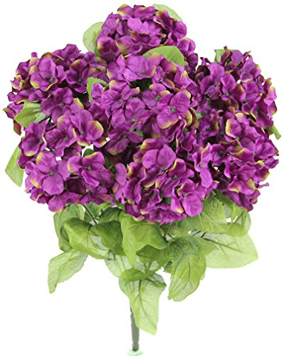 Passion Arrangement - Admired By Nature 7 Stems Artificial Full Blooming Stain Hydrangea for Home, Restaurant, Wedding & Office Decoration Arrangement, Passion