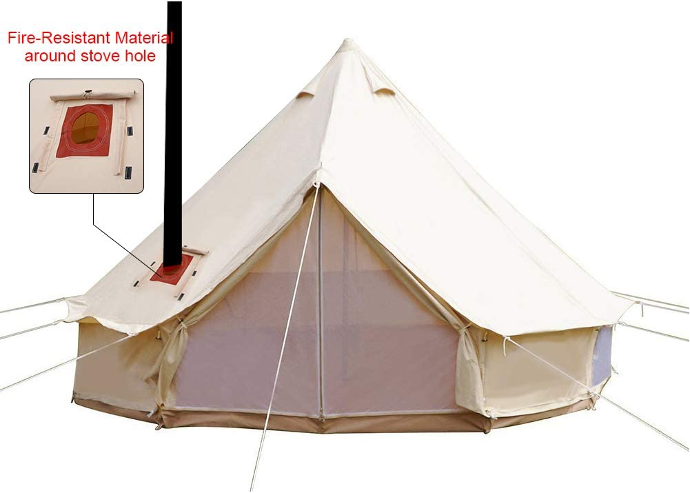 PlayDo Canvas Tent With Stove Jack