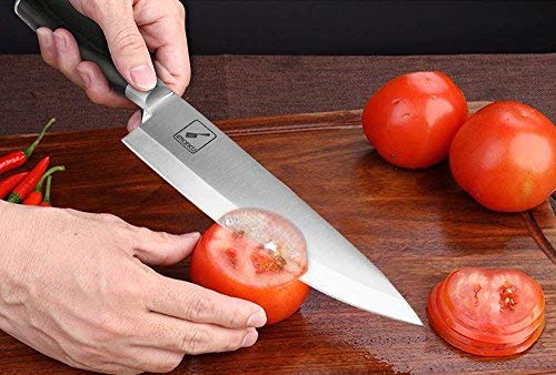 Imarku 8 Inch Pro Chef's Knife,German High Carbon Stainless Steel Kitchen Knife with Sharp Single Bevel Blade and Ergonomic Handle by iMarku (Image #2)