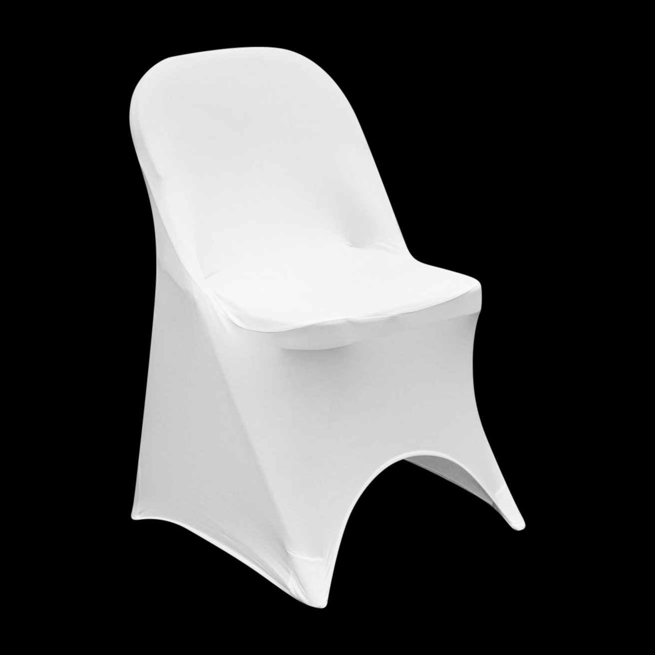 Prime Springrose Ecoluxe White Scuba Spandex Stretch Folding Caraccident5 Cool Chair Designs And Ideas Caraccident5Info