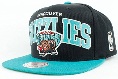 a7586c7eae5 Vancouver Grizzlies Hat NBA Authentic Mitchell   Ness Team Arch 2Tone  Snapback Black Teal Basketball Cap