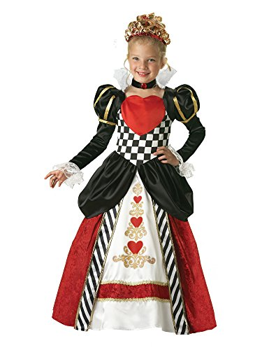 Queen of Hearts Elite Girl's Costume - Kids Queen Of Hearts Costumes