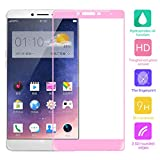 Cuitan Full Coverage Tempered Glass Screen Protector for OPPO R7 Plus, Ultra-thin 0.3mm thickness, 9H Hardness, 2.5D, Clear Transparent Anti-scratch Fingerprint Resistant Tempered Glass Screen Protector Protective Film for OPPO R7 Plus - Pink