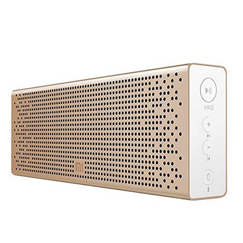 Original Xiaomi Mi Bluetooth Speaker Wireless Portable Stereo Mini Portable Bluetooth 4.0 Square Box Speakers MP3 Player Pocket Audio Support Handsfree TF Card AUX-in for Smartphone Computer (Gold)