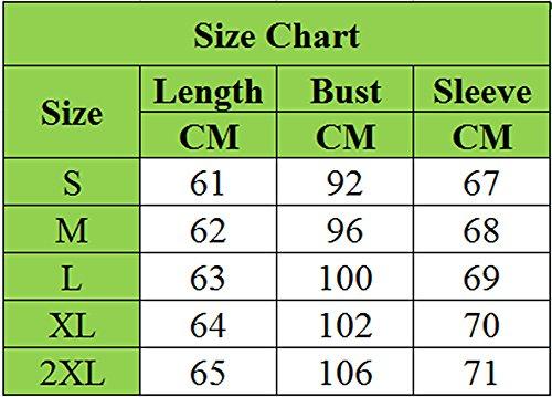 Coat Casual Blouson Manches Zhuikun Femme Longues Outwear Jacket Tops Blanc T8CwPqCx