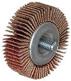 Merit Super Finish Quick-Change Mini Grind-O-Flex Abrasive Flap Wheel, Threaded Shank, Ceramic Aluminum Oxide, 2'' Dia., 1/2'' Face Width, Grit 120, 25000 Max RPM (Pack of 10)