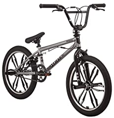 Hop on a Mongoose legion Mag and unleash your talent on the world. The Mag comes with a sturdy Mongoose Hi-Ten steel BMX frame and fork that will support any tricks you throw down. 40x16t gearing with two-piece forged steel 170 mm cranks prov...